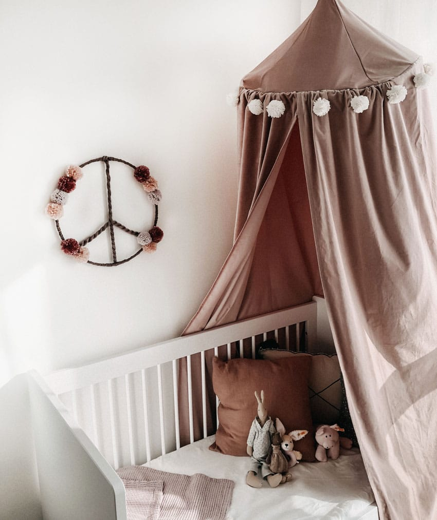 Meintipi Traumfänger Peace Love Rosa Dreamcatcher Kinderzimmer